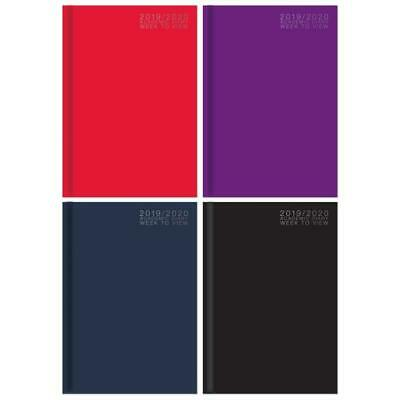 Black 2019-2020 A5 Academic Diary- Student One Week To View Diary Casebound