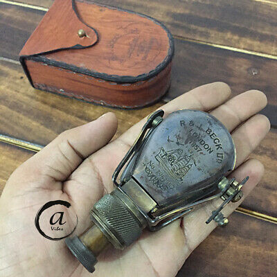 Sailor Marine Pocket Monocular Teleskop aus massivem Messing Replica Fernglas Nu