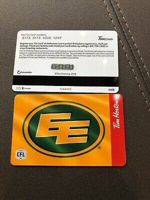 Just Released 2019 Tim Hortons Gift Card Edmonton Eskimo Fd66653
