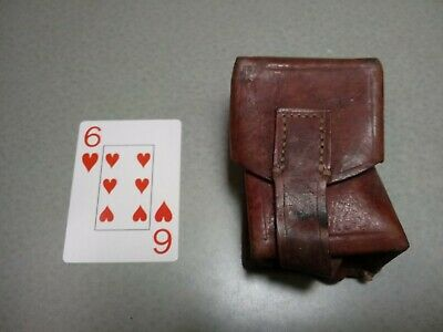 1953 Leather Ammo Pouch Yugoslavian 8mm Mauser Yugo M24 M48 in Very Good Cond 6H