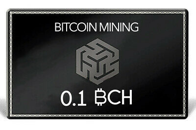 Bitcoin Cash 0.1 BCH | MINING CONTRACT | Crypto Currency | Top 4 Coin | Verkauf