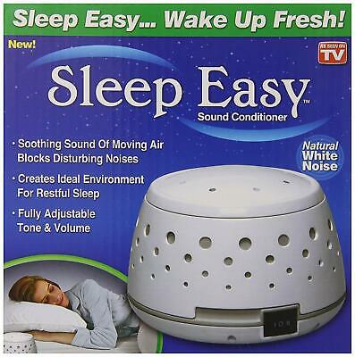 Sleep Easy Sound Conditioner As Seen On Tv Natural White Noise With Real Fan