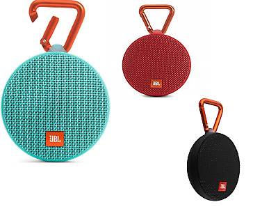 JBL Clip 2 Waterproof Portable Rechargeable Bluetooth Speaker Pick Your Color