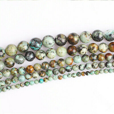 4-12mm Natural African Turquoise Loose Beads Diy Accessories Charm Shining