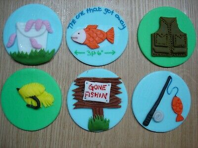 mechanic themed cake// cupcake toppers x 6