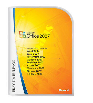 MICROSOFT OFFICE 2007 FOR WINDOWS 7 AND 10  FULL VERSION For 3 PC'S