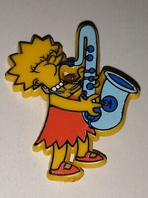 Simpsons Lisa Simpson Playing Saxophone Pin Badge 2""