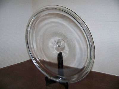 VNTG LID Large ROUND Clear Glass REPLACEMENT LID USA  Crock Pot? LID