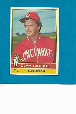 1976 Topps #211 Clay Carroll Cincinnati Reds star well Centered NM/MT Free ship