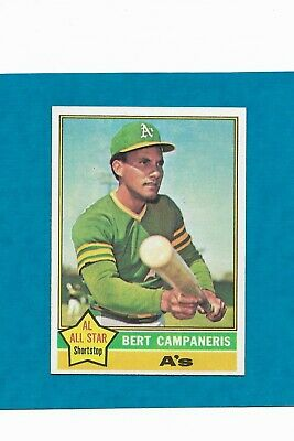1976 Topps #580 Bert Campanaris Oakland Athletics A's Centered NM/MT Free ship