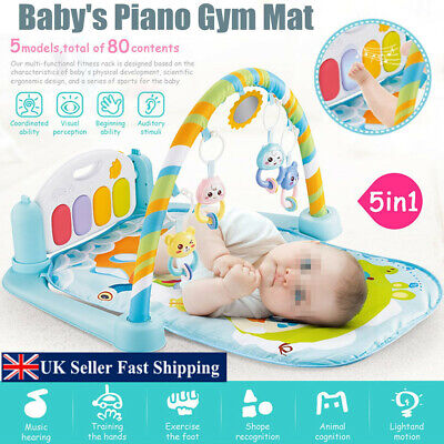 5-in-1 Baby Infant Gym Activity Floor Play Mat Piano Musical Educational Toys
