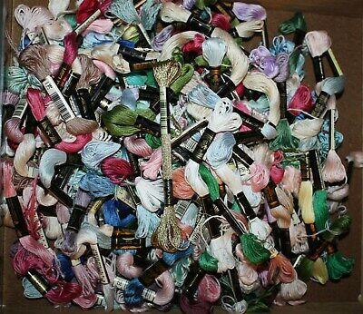 HUGE LOT 234 + misc DMC 25 skien threads many colors