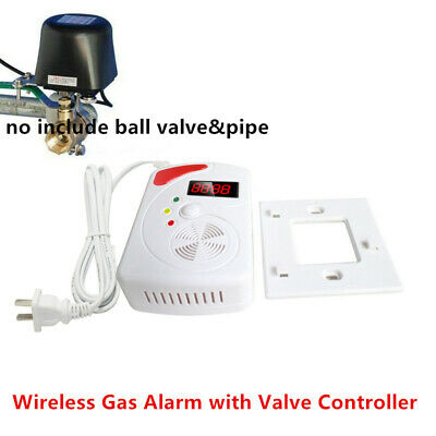 Wireless gas detector natural gas alarm LPG LNG with shut valve controller
