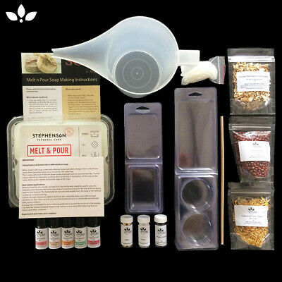 Soap Making Kit- Family friendly, easy to use, instructions, equipment and molds
