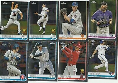 2019 Topps Chrome Baseball Base Cards (1-204)  U-Pick Complete Your Set Alonso