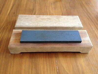 Vintage Sharpening Stone Hone Oil Stone In A Wooden Box