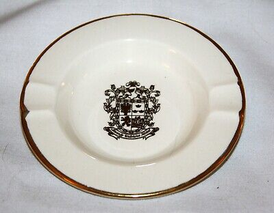 Vintage BEVERLY WILSHIRE HOTEL Souvenir Ashtray - Beverly Hills - GOLD GILT