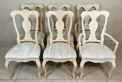 Set of Six Henry Link French Provincial Chairs Dining Room Louis XV LEXINGTON