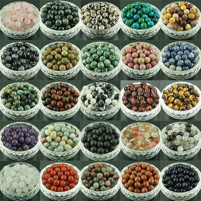 Wholesale Lot Natural Gemstone Round Spacer Loose Beads 4mm 6mm 8mm 10mm NO.1