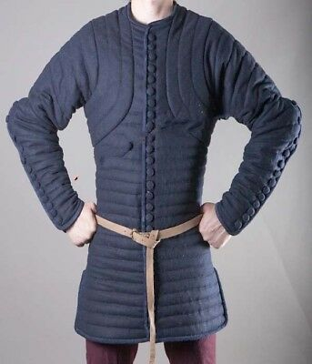 Beautiful Halloween Blue Medieval Gambeson Thick padded Jacket Armor COSTUMES