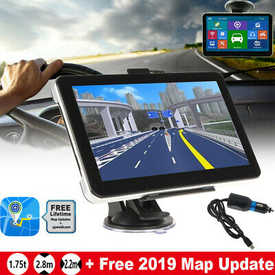 "5"" Truck Car Navigation GPS Navigator Sat Nav 8GB AU EU Lifetime Map Speedcam FM"