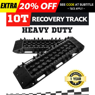 Pair Recovery Tracks 10T Sand Track Sand Snow Mud Trax Black ATV Offroad 4WD NEW