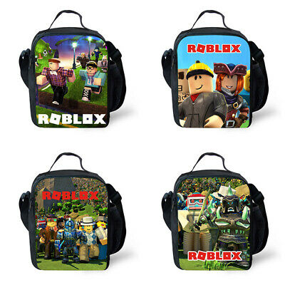 5fe52d391a76 ROBLOX LUNCH BAG School Childrens Boys Insulated Blue Personalised ...