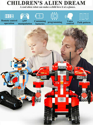 Remote Control&APP Building Blocks Robot Smart Action Walking  Kids Toy Gifts