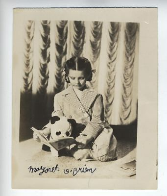 "RARE - Child Actress MARGARET O'BRIEN Signed STAR 4"" X 5"" inch photo YOUNG"