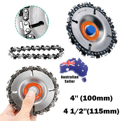 """22 Tooth 4"""" Grinder Chain Disc Wood Carving Saw Blade For 100/115 Angle Grinder-"""