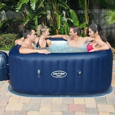 Bestway Lay-Z-Spa Hawaii Airjet Inflatable Hot Tub 4-6 Person Capacity /Repaired