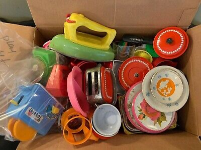 Vintage Lot 60's 70's Childrens Play Dishes, Cups, Kitchen/Tea Ware, Picnic etc.