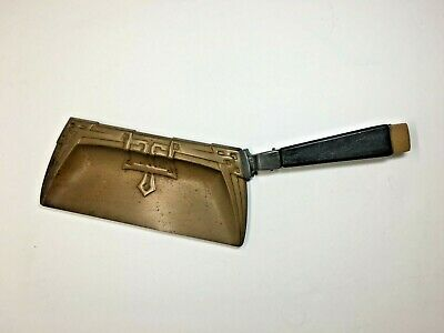 Vintage Brass? Black Handled Art Deco Crumb Catcher Silent Butler Pan Crumber