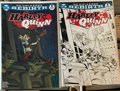 YSC Exclusive Harley Quinn #1 Variant SET Color // B/&W NM Free shipping!