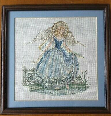Arcadian Angel Cross Stitch Completed Framed Picture Stunning Gift