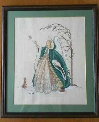 Snow Angel Cross Stitch Completed Framed Picture Stunning Gift