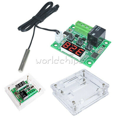 W1209 DC 12V Digital Thermostat Temperature Controller Switch Sensor Module+Case