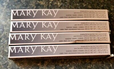 Lot of 4 MARY KAY SHADOW & LINE EYE DUO BALI BLUE FULL SIZE Boxes free shipping