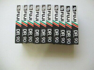 Fuji DR 90 Type 1 Audio Cassette Tapes Vintage Sealed  Lot of 10