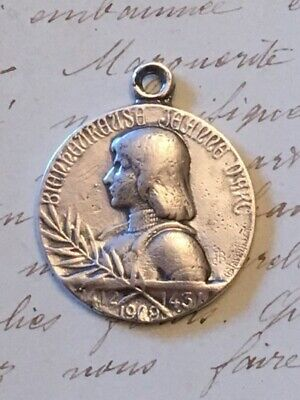 St Joan of Arc Medal - Sterling Silver Antique Replica