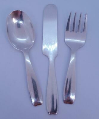 Tiffany & Co. Sterling Silver Cordis 3 piece Baby Fork/ Spoon/ Knife Set