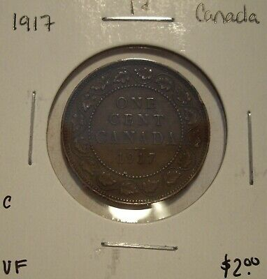C Canada George V 1917 Large Cent - VF