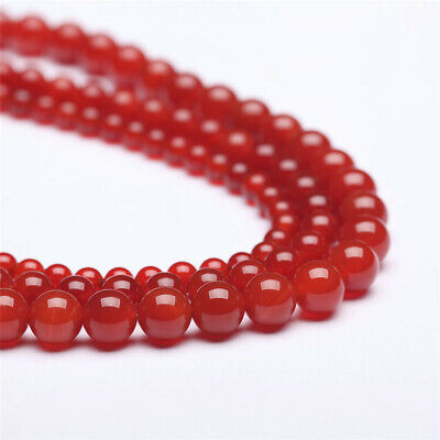 Natural Carnelian Loose Beads Making Jewelry 15 inches Lots Diy Hole Handmade