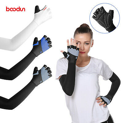 Ice Silk Long Sleeves UV Protection Cool Gloves Arm Cuff Sunscreen Golf Outdoor