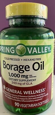 SPRING VALLEY FISH, Flaxseed, Borage Oil, 120 Softgels