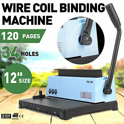 Spiral Coil Calendar Binding Machine 34 Hole Punching Binding Machine AU STOCK!