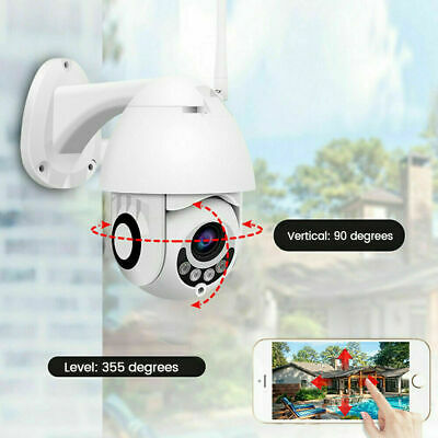 Telecamera Ip Ptz Zoom 1080P Hd Full Color Camera Motorizzata Wifi 3.6Mm Af