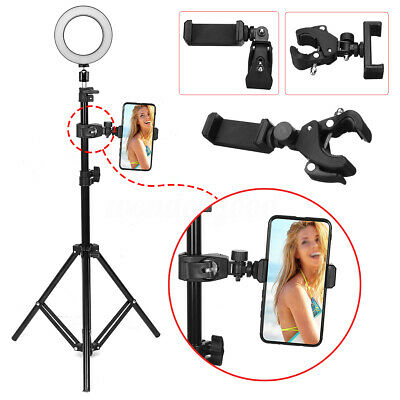 """Ring Light 6.3"""" LED USB Selfie Lamp Make up for Cell Phone Clamp Stand"""