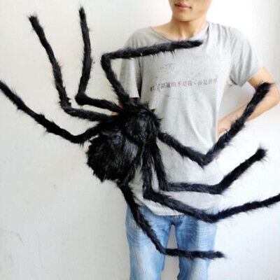 """59""""/150cm Hairy Giant Spider Decoration Halloween Prop Haunted House Decor Party"""