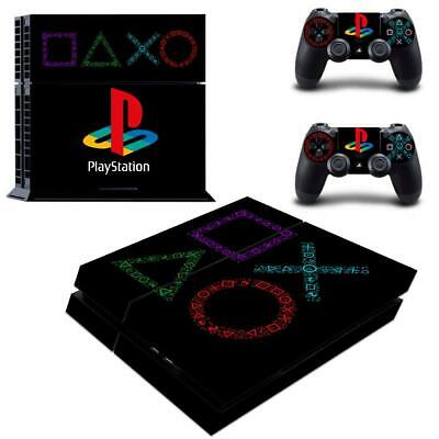 Sony Playstation PS4 Vinyl Decal Stikcer Covers for PS4 Console Controllers Skin